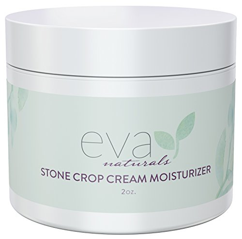 Lightening Treatment (Stone Crop Cream Moisturizer by Eva Naturals (2 oz) - Natural Skin Lightening Cream and Age Spot Treatment - Helps Reduce Pigmentation and Dark Spots on Skin - With CoQ10, Lemongrass and B Vitamins)