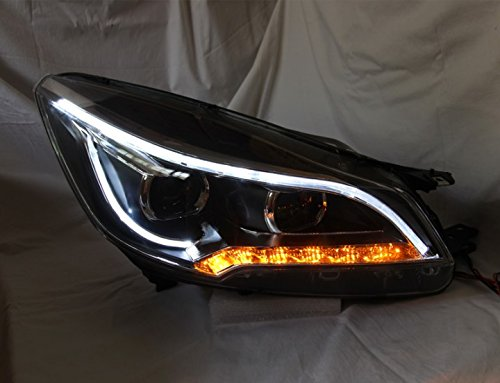 GOWE Car Styling for Ford Kuga Headlights 2014-2015 Escape LED Headlight DRL Bi Xenon Lens High Low Beam Parking Fog Lamp Color Temperature:8000k;Wattage:55w 0