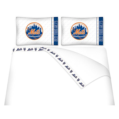 MLB New York Mets Micro Fiber Sheet Set (New York Mets Fiber)