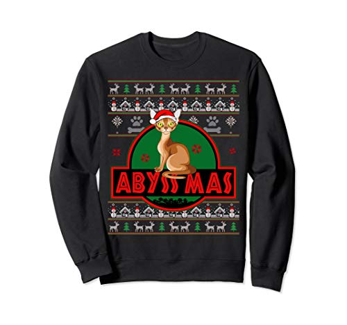 Abyssinian Cat. Funny Ugly Sweater Sweatshirt For Xmas