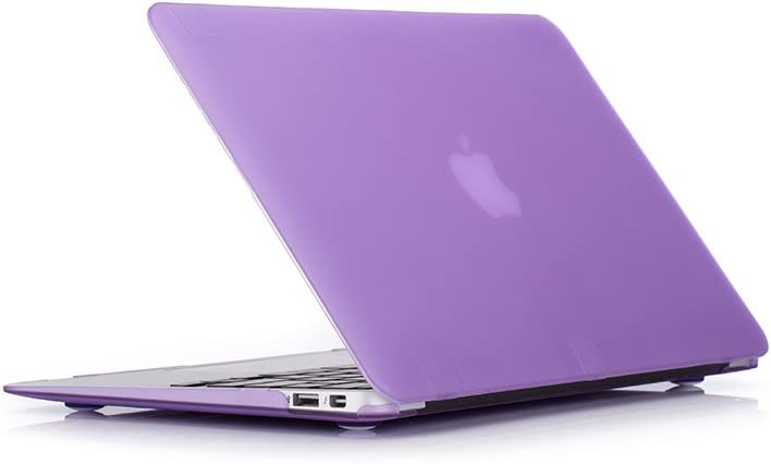 RUBAN Plastic Hard Case Cover for MacBook Air 11 Inch (Models: A1370 and A1465), Purple