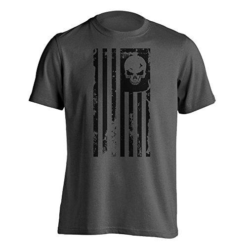 American Flag Skull Military T-shirt hot sale