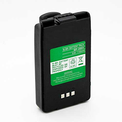 2cr5m Battery - ExpertPower 9.6v 1100mAh NiMh High Capacity Radio Battery for Icom BP-200 BP-200H BP-200L BP-200M IC-A23 IC-A5 IC-T8 IC-T8A IC-T8E IC-T8H IC-T8HP IC-T81 IC-T81A IC-T81E IC-T81H IC-T81HP