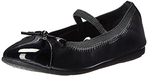 Girls Dressy Leather Shoes - The Children's Place Girls' Dressy Ballet Flat, Black, TDDLR 9 M US Little Kid