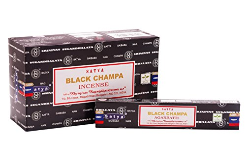 Satya Black Nag Champa 15g Pack of 12 (12 boxes x 15 grams) by Satya