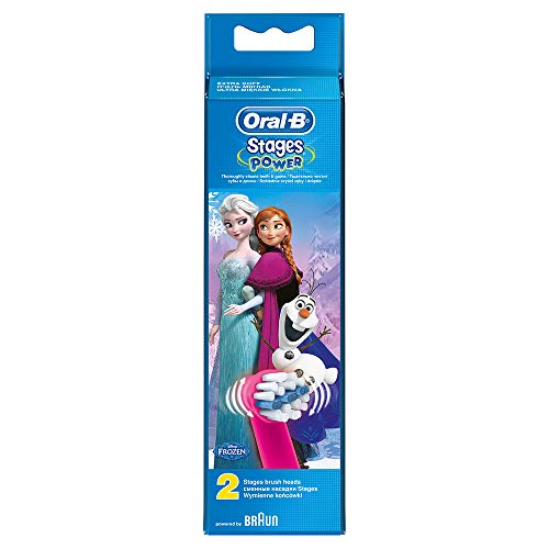 Oral-B Stages Power Kids Disney Frozen- Recambios para cepillo eléctrico, 2 unidades: Amazon.es: Salud y cuidado personal