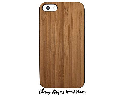 Wood Ash Stripe (Faux-Leather and Wood Cases for iPhones 6-6s-7-8 (Cherry Stripes Wood Veneer))