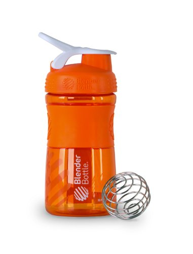 Blenderbottle Sportmixer, Orange and white, 0.35 Pound