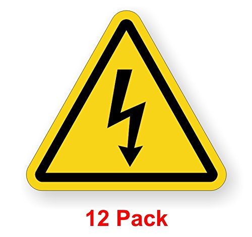(12-pk) Electrical Shock Hazard Decals | Arc Flash Warning Labels | Stickers Electrical ()