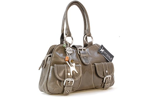 Catwalk Leather Faith Handbag Collection Grey rPwOrR