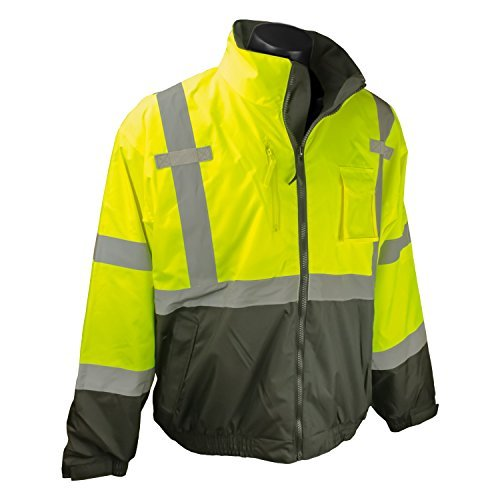 Radians SJ210B-3ZGS-M Three-In-One Deluxe Hi-Viz Bomber Jacket, Medium, Hi-Viz Green by -