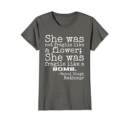 Womens She Was Not Fragile Like a Flower; Fragile Like Bomb TShirt Small - She Likes Fashion