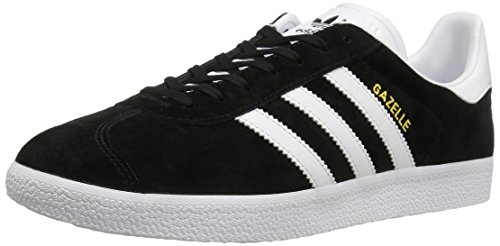 Kick Adidas (adidas Originals Men's Gazelle Lace-up Sneaker,Black/White/Gold Met,9 M US)