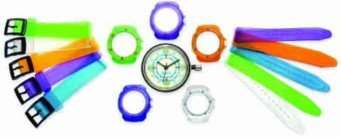 Children's 5 in 1 Multicoloured Interchangeable Strap Watch - DSJ014
