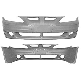 PAINTED FRONT BUMPER COVER PONTIAC GRAND AM 99-05 GT - Galaxy Silver Metallic - 12/WA519F