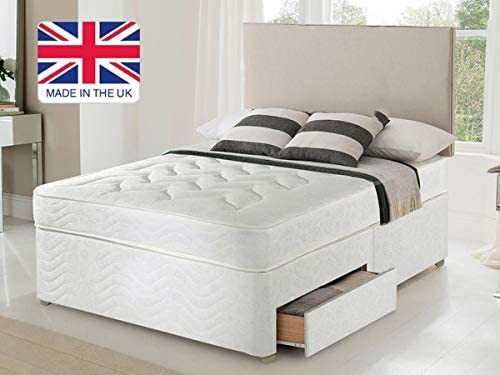 Revive Direct | Premium - Quality Orthopaedic Open Coil Bed with Drawer Storage, Durable Bed with Soft, Breathable Fabric Cover - 3ft Single 0 Drawers