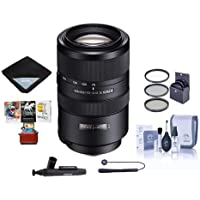 Sony 70-300mm F4.5-5.6 G SSM II Telephoto Zoom Lens - Bundle With 77mm Filter Kit, Lens Wrap (19x19), LensPen Lens Cleaner, Capleash, Cleaning Kit, Mac Software Package