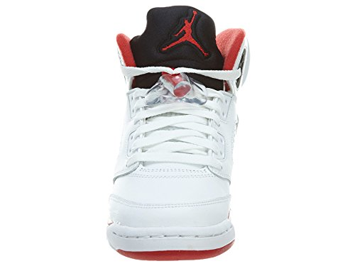- Basket Air 5 GS Fire Red Blanche Rouge Noir 440888 120