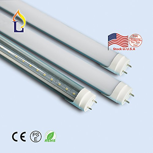 (15 Pack) T8 LED Tube Light SMD2835 120leds 5ft 24W Strip Light G13 FA8 White daylight Fluorescent Replacement Light Home Lamp by JLLEAD