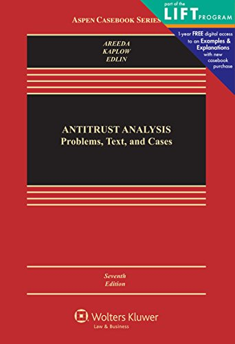 Pdf Law Antitrust Analysis: Problems, Text, and Cases (Aspen Casebook)