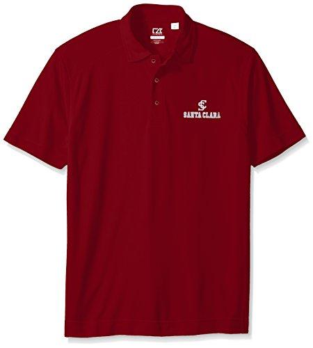 Cutter & Buck NCAA Santa Clara Broncos NCAA Men's CB Dry Tec Genre Polo, Large, Cardinal (Cardinals Santa)