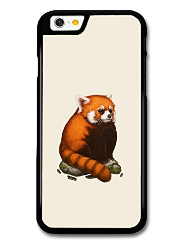Red Panda Sitting on a Rock Cool Cute Funny Design case for iPhone 6 6S