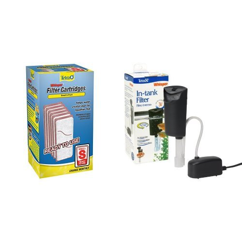Tetra Small Whisper Filter Cartridges + Whisper Internal Filter Air Pump Filtration Bundle by Nature's Miracle