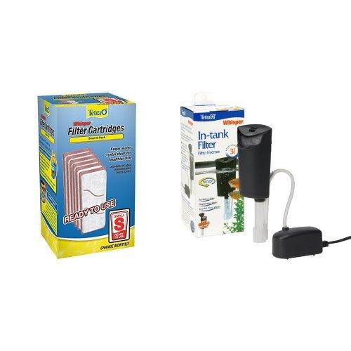 Tetra Small Whisper Filter Cartridges + Whisper Internal Filter Air Pump Filtration Bundle (Tetra Pumps Air)