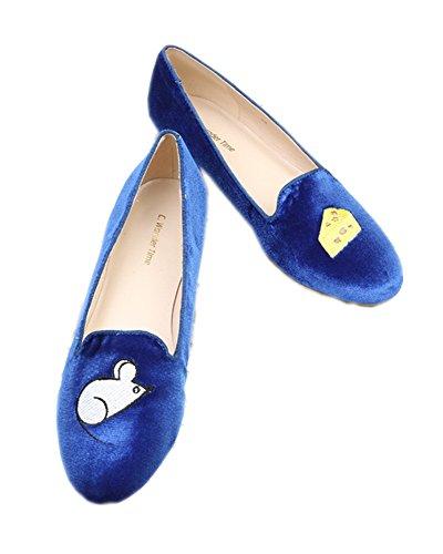 C. Wonder Time , Damen Mokassins blau blau