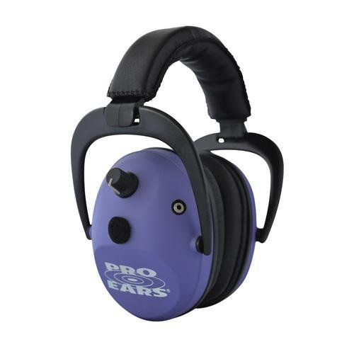 Pro Ears - Predator  Gold - Hearing Protection and Amplfication - NRR 26 - Contoured Ear Muffs - Purple by Pro Ears