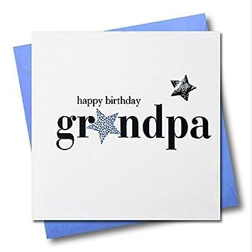 Claire Giles Hearts And Stars Happy Birthday Grandpa Card Amazon