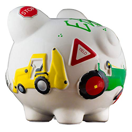 Work Truck Boys Piggy Bank - Large - (Personalized & Custom With Name And Year) (First Financial Toy For Teaching Boys & Girls About Saving Money) (Perfect Unique Gift Idea For Babys 1st Birthday) by HolidayTraditions (Image #4)