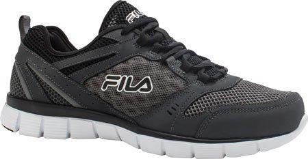 Fila Men's Memory Deluxe SE Running Shoe,Castlerock/Castlerock/Black,US 7 M (Fila Coolmax Memory Foam Men)