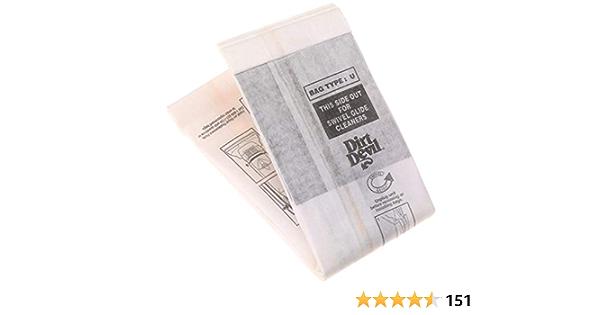 20 sacs pour aspirateur spu1 convient pour Dirt Devil M 7050-6