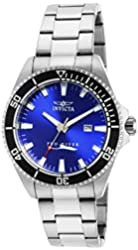 Invicta Men's 15184SYB Pro Diver Blue Dial Stainless Steel Watch with Impact Case