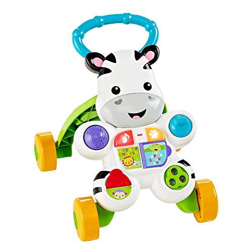 Fisher-Price - Cebra parlanchina primeros pasos - andador bebes - 6 meses - 3 anos (Mattel DLD87), paquete estandar