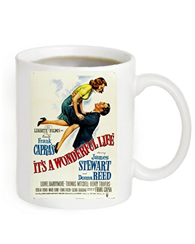 It's A Wonderful Life Movie Poster Coffee Mug 11OZ. (The Poster is printed on both sides of the Mug).