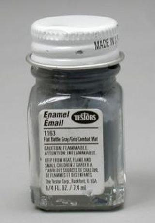 - Testors Enamel Paint .25oz-Flat Battle Gray