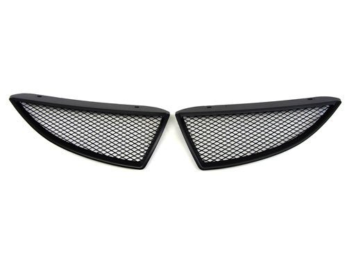 04-05 MITSUBISHI Lancer Ralliart Style Front Grille with Aluminum Mesh - Mitsubishi Lancer Grille Replacement