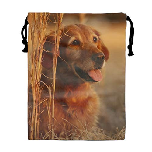 Goodie Bags for Kids Golden Retriever Dog Drawstring Gift Bags for Bdays, Parties + More ()