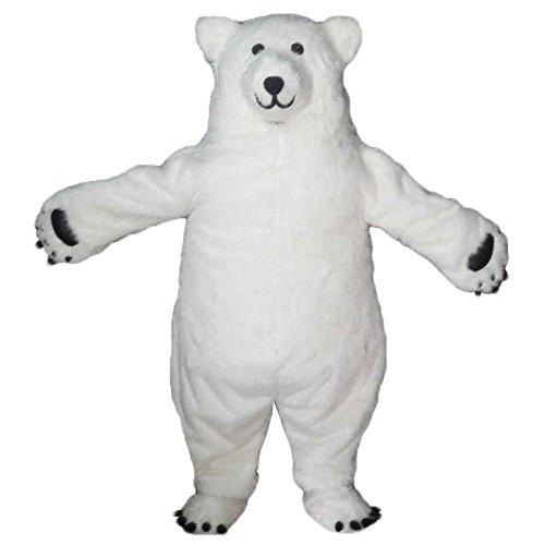 Siamese White Polar Bear Mascot Costume Real photo Langteng (TM) -