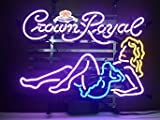 New Larger Crown Royal Whiskey Girl Neon Light Sign 20''x16'' H107(No More Long Waiting for WEEKS/MONTHS with Fast Shipping From CA With FREE USPS Priority Mail)