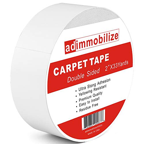 adimmobilize Double Sided Carpet Tape for Area Rugs,Wood Floors,Tile,2