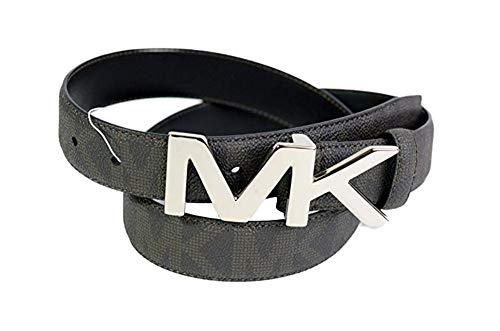 Michael Kors Men's Silver Hardware Leather Belt,Size 38,Brown ... ()