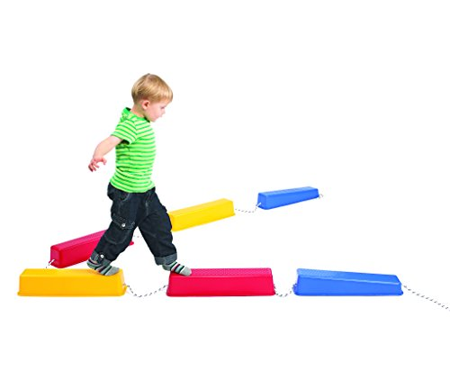 edx Education Step-a-Logs - Balance Beam for Kids - Indoor and Outdoor - Stackable - Build Coordination and Confidence - Physical and Imaginative Play