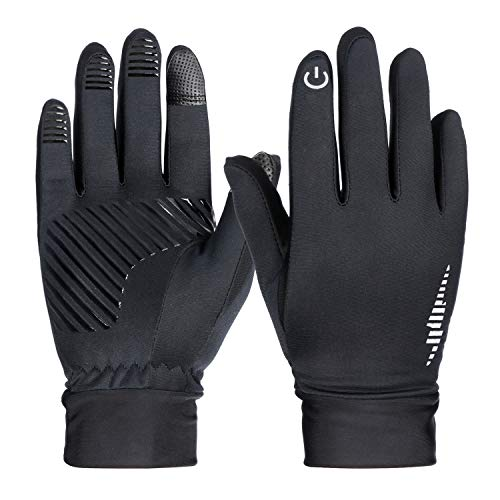 HiCool Running Gloves Touch Screen Winter Thermal Driving Warm Outdoor Sports Head Gloves for Men Women,Black ()