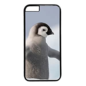 Baby Penquin PC Black Skin Hard Case Cover Design for iPhone 6 (4.7 inch)