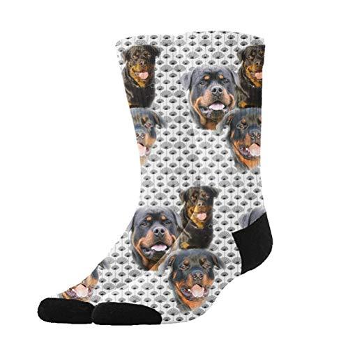 Athletic Socks Rottweilers Thistles 3D Compression Socks Long Crew Socks for Men Women Boys Girls Kids, Best Medical, Nursing, Travel, Flight Socks ()