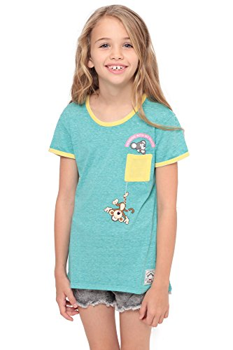 Bobby Jack Hangin' With My Bestie | Pocket Ringer Top - Aqua