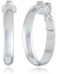 Classics Silver-Tone Clip Hoop Earrings